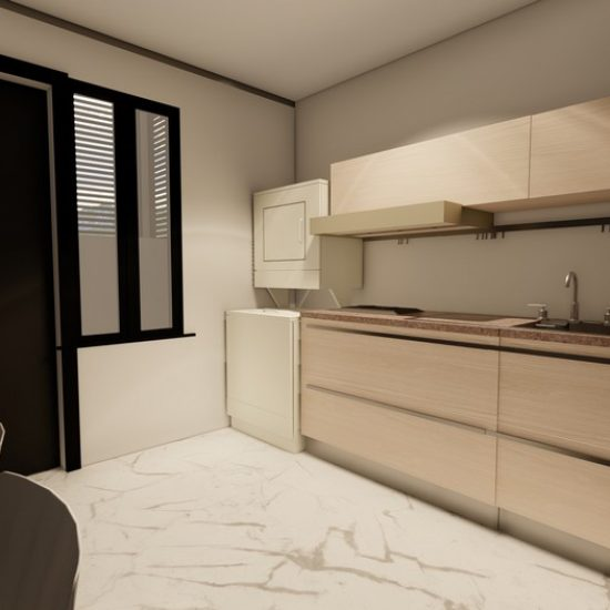 Vista Área Social Apartamento 1 (Ley 7600)